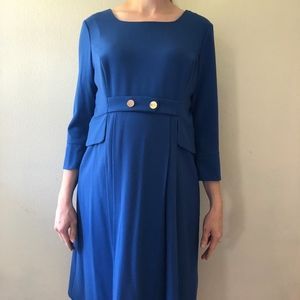 Luxe by Seraphine Blue Maternity Dress Size 10